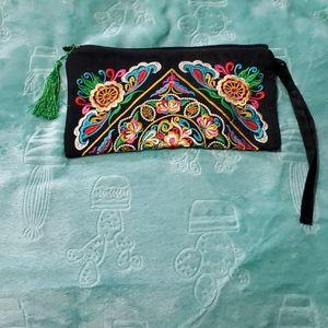 Black Embroidered Bag